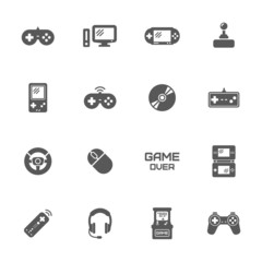 Video game icons set.