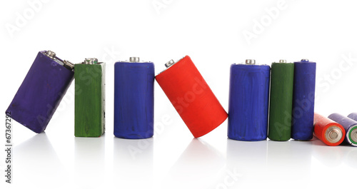 Alkaline batteries, isolated on white