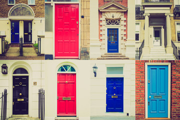 Retro look British doors