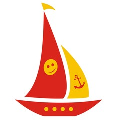 cheerful sailboat