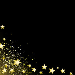 Starry Black Background