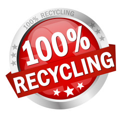 Button - 100 % Recycling