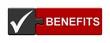canvas print picture - Puzzle-Button schwarz rot: Benefits