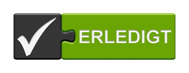 Puzzle-Button grau grün: Erledigt