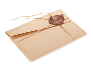 Vintage envelope with stamp