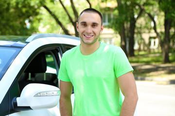 Man near car
