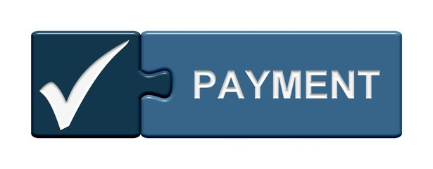 Puzzle-Button blau: Payment