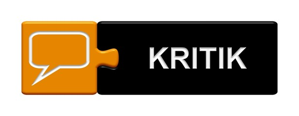 Puzzle-Button orange schwarz: Kritik