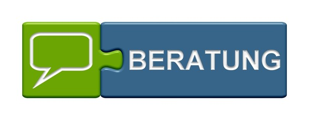 Puzzle-Button grün blau: Beratung