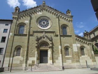 Facciata della Allerheiligen-Hofkirche a Monaco di Baviera
