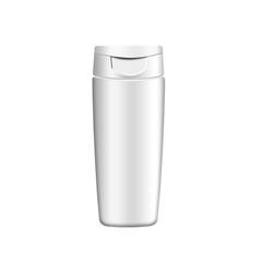 Shampoo, gel or lotion white plastic bottle