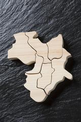 近畿地方の木製地図