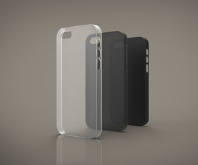 Transparent and solid plastic cases for smartphones