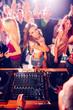 Obrazy na płótnie, fototapety, zdjęcia, fotoobrazy drukowane : Girl sending kisses on party