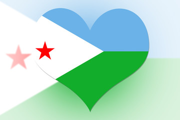 Djibouti Flag heart