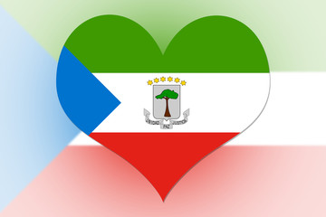 Equatorial Guinea Flag heart