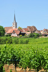 alsace, the picturesque village of mittelbergheim