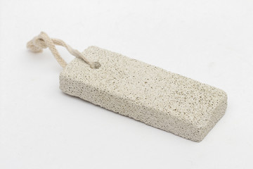 pumice on the white background