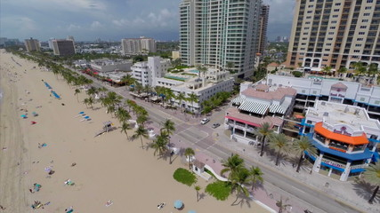 Aerial video beach fort Lauderdale Beach