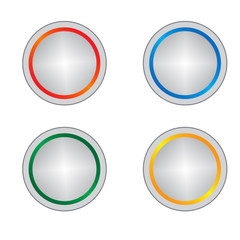 color button vector set