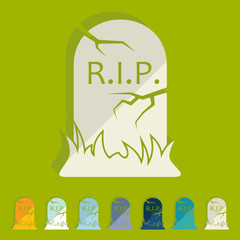 Flat design: tombstone