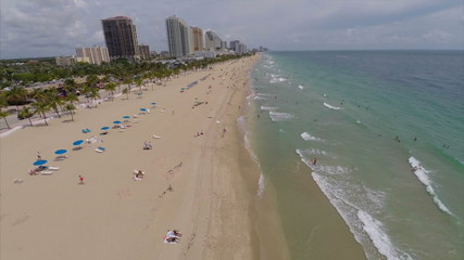 Fort Lauderdale Beach aerial video