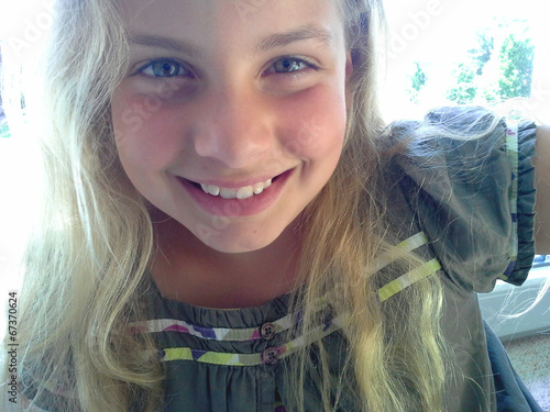 canvas print picture Girl smiling