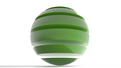 Logo green sphere