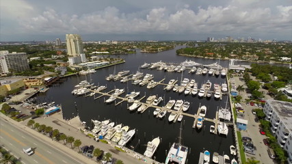 Aerial video Fort Lauderdale Boats