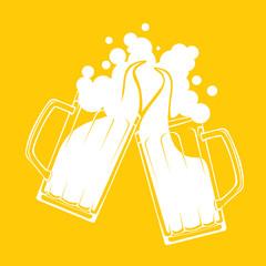 Beer stein toast concept