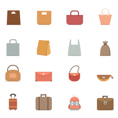 Bag icons vector eps10