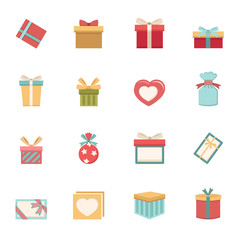 gift box icons vector eps10