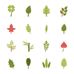 leaf icons vector eps10
