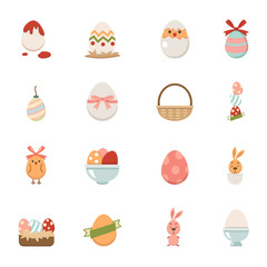 Celebration easter icons vector eps10