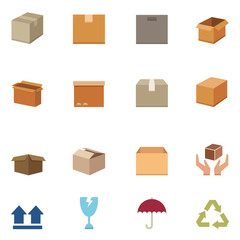 Packaging boxes icons vector eps10
