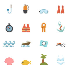 Summer Icons vector eps10
