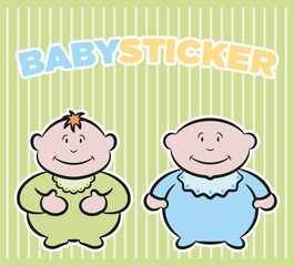 Baby boys stickers