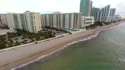 Hallandale Florida aerial video footage
