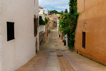 street view from begur in costa brava