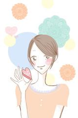 恋愛と女性のイメージ/笑顔