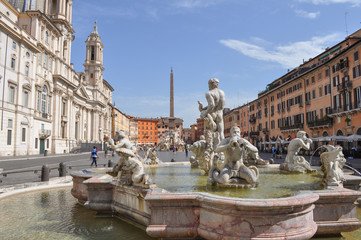 Fontana of the Four Rivers in Rome