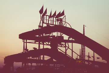 luna park at sunset