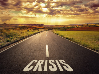 Concept of the road to crisis and wrong way