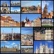 Europe landmarks - travel photo collage