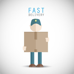 Fast delivery man