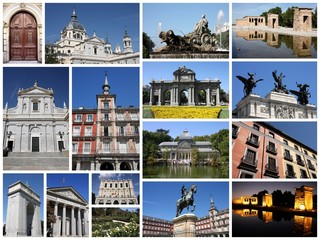 Madrid, Spain - travel photo collage