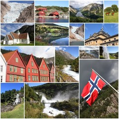 Norway collage - travel photo collage