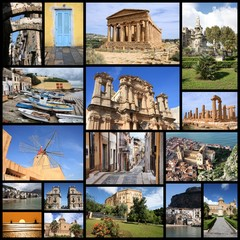 Sicily photos - travel photo collage
