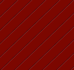 Diagonal wood paneling in red