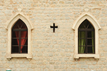 Windows of the church of St. John at Budva